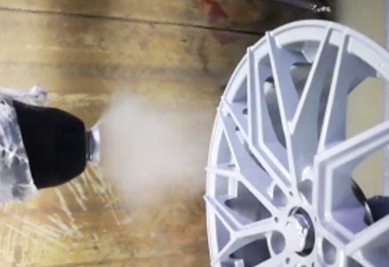汽车轮毂喷涂案例二